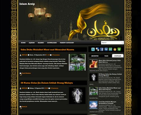 Islamic Templates For Blogger | free premium islamic arab blogspot template