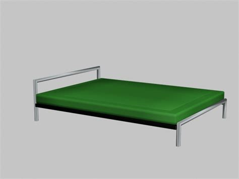 simple metal bed frame modern simple bed 3d model 3dsmax autocad files free