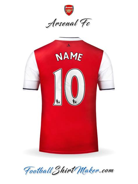 arsenal number 10 create arsenal soccer jersey with your name and number