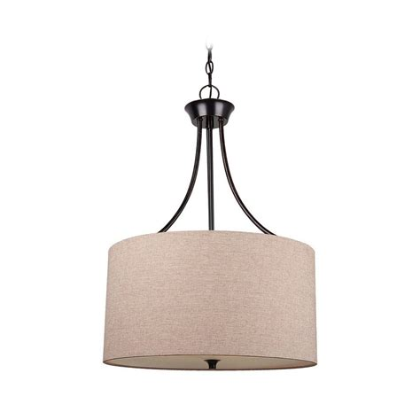 Drum Pendant Lights Drum Pendant Light With Beige Shade In Burnt Finish 65953 710 Destination
