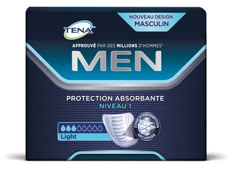 tena men protection absorbante niveau  tena