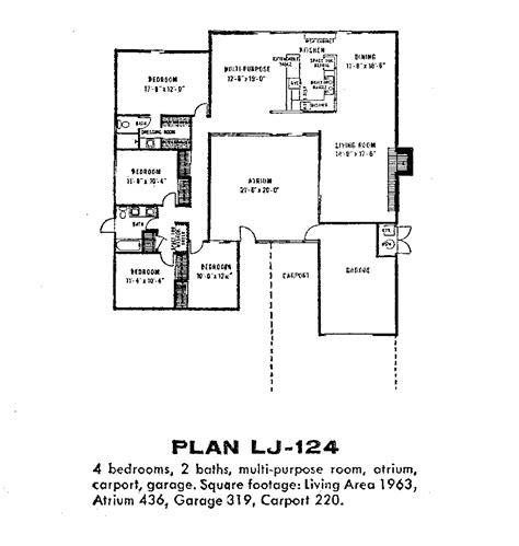 eichler atrium floor plan fairhaven lj 124 thumb architecture pinterest sound