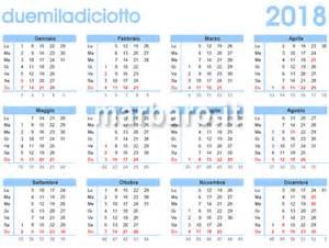 Calendario 2018 Settimane Calendario 2018 Da Stare Scarica Gratis In Pdf