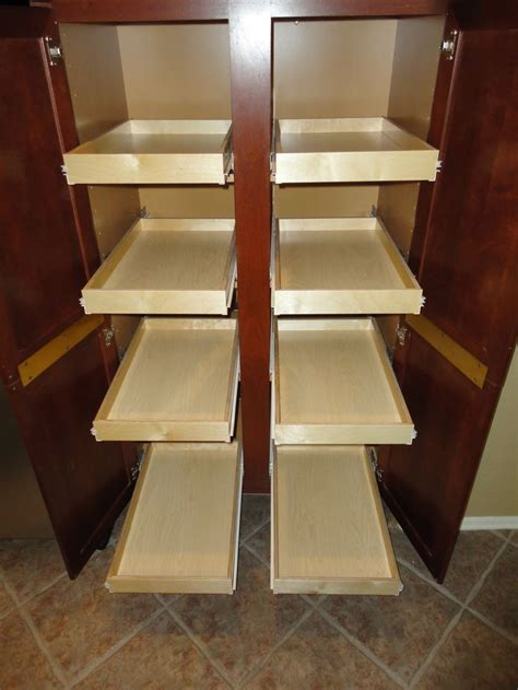 pantry cabinet with sliding shelves 17 best images about pull out pantry shelves on