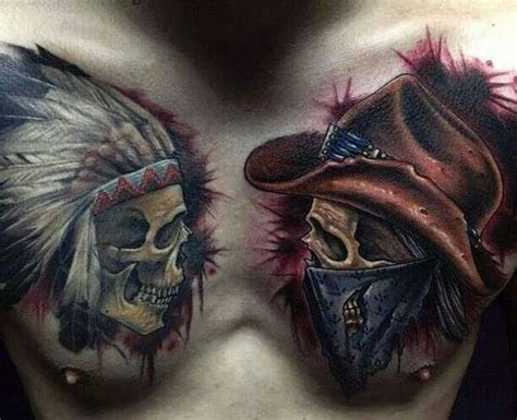 cowboy skull tattoo cowboy skull tattoos best ideas