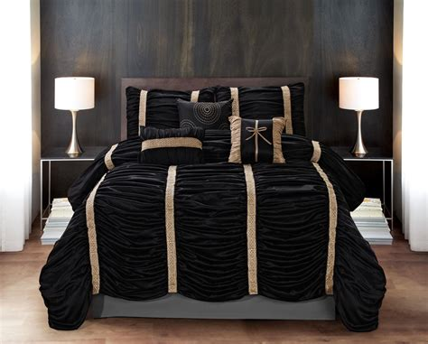 best 28 black and gold comforter sets whitman black