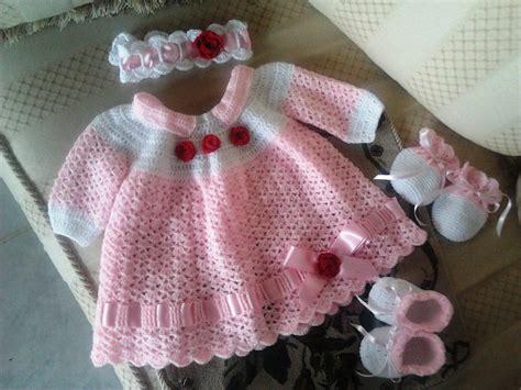 vestidos para bebes de tejido vestidos tejidos 100 a mano de beb 233 crochet mayor y
