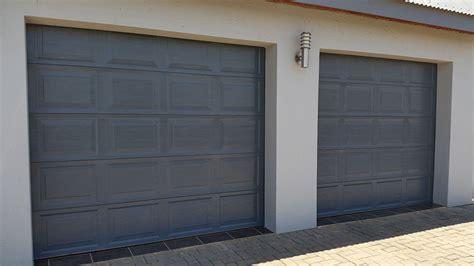 20 Panel Charcoal Magnificent Doors Single Garage Door Panel