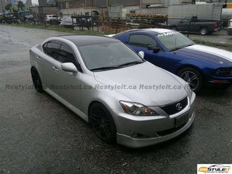 lexus wrapped lexus is350 gloss black roof vinyl car wrap car wraps
