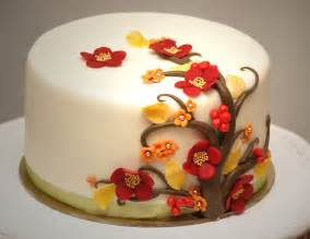fall tree and flowers cakes pinterest