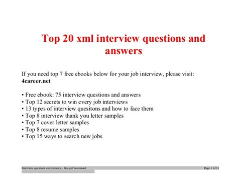 pattern xml python top xml interview questions and answers job interview tips