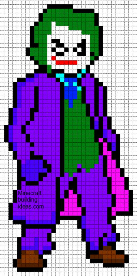 minecraft pixel templates batman the joker