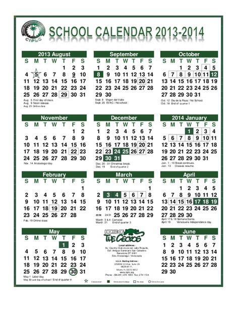 Calendã F E School Calendar 2013 2014e