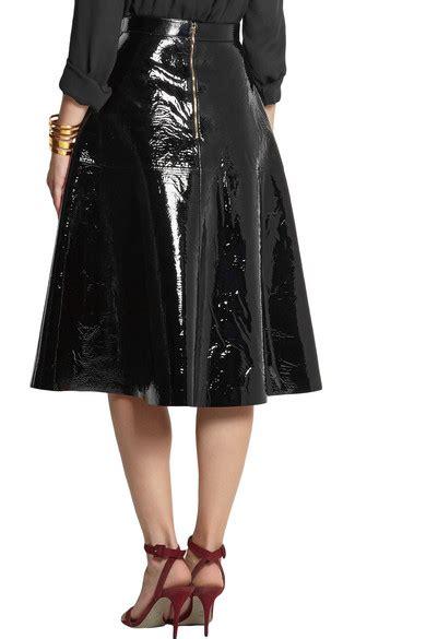 rochas patent leather skirt net a porter