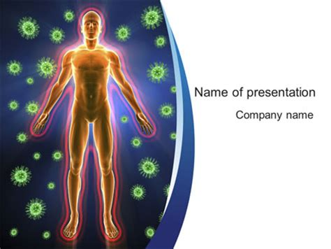 Human Immune System Presentation Template For Powerpoint Immunology Ppt Templates Free