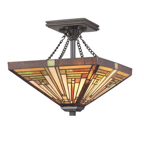 two light tiffany semi flushmount ceiling light tf885svb