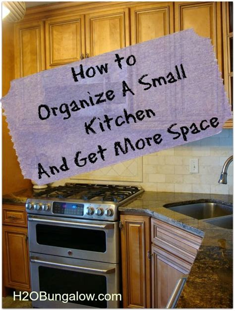 How To Arrange A Kitchen | how to organize a small kitchen and get more space