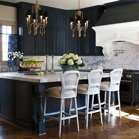 Black Kitchen Cabinets Pinterest I Really Like This Idea Black Cabinets May Make The Kitchen Look Darker Decor Pinterest