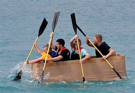 cardboard boat competition sailor race cardboard boat in base competition flickr