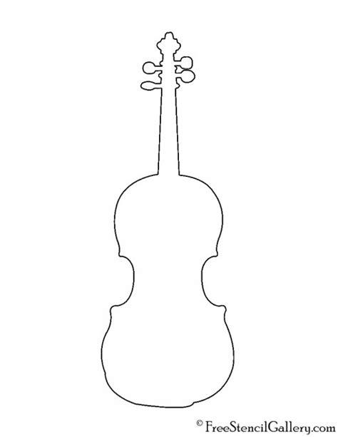 violin stencil free stencil gallery