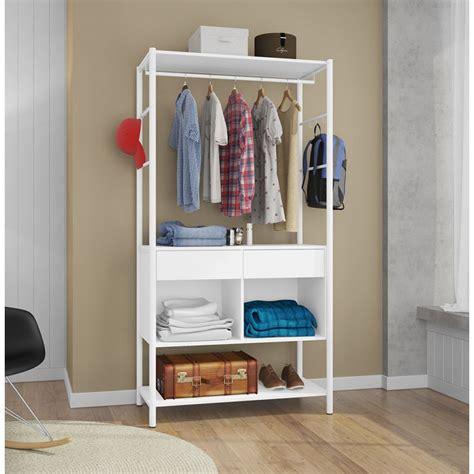 armario guarda roupa guarda roupa closet sem portas paris branco na flex mesas