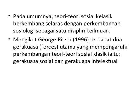 Teori Sosial 2 2 sejarah pertumbuhan teori sosial