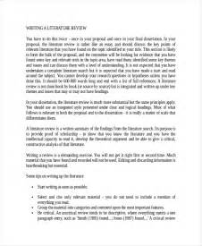 Template For Writing A Literature Review by 10 Literature Review Exles Free Premium Templates