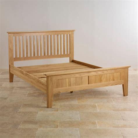 oak king size bed bevel king size bed in natural solid oak oak furniture land