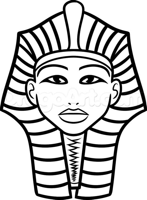 How To Draw King Tut For Kids Step By Step People For Kids For Kids Free Online Drawing Drawings Images