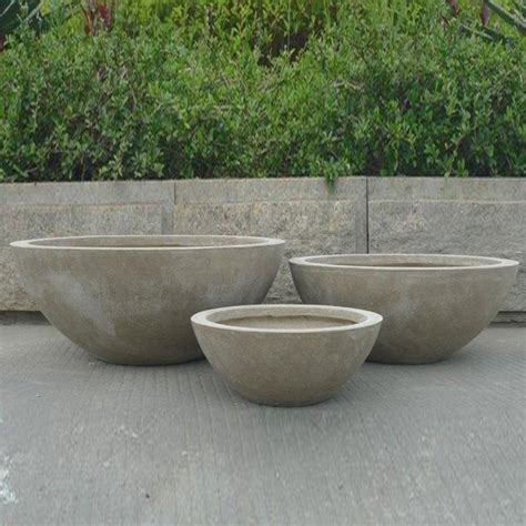 pots and planters stone planters outdoor decor pinterest