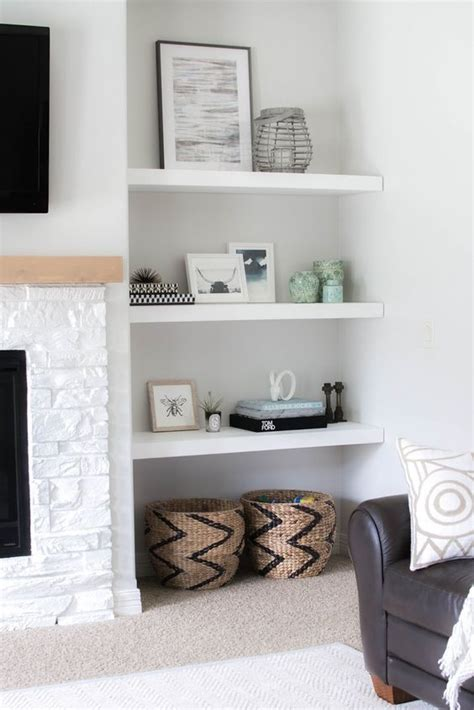 floating shelves living room white living room shelves modern house