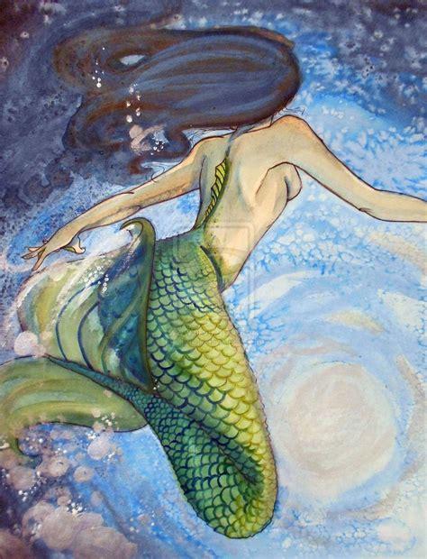 mermaid painting watercolor mermaid by kara lija on deviantart