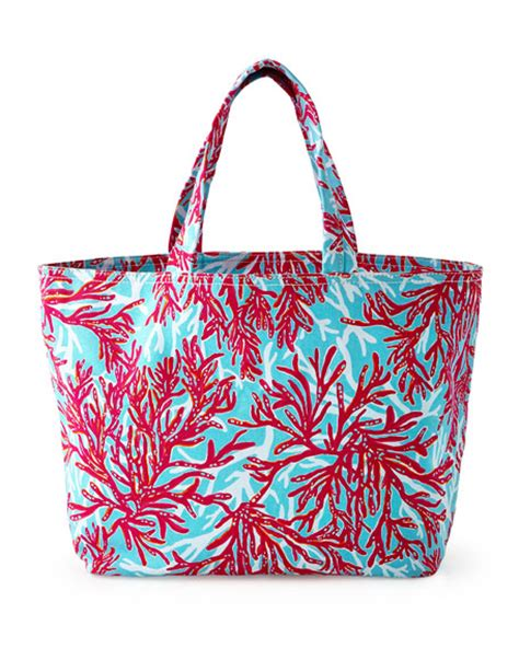 lilly pulitzer l shade lilly pulitzer coral print tote