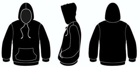 black hoodie template hoodie template front and back