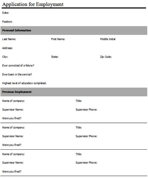 anatomy of word create an employment application form