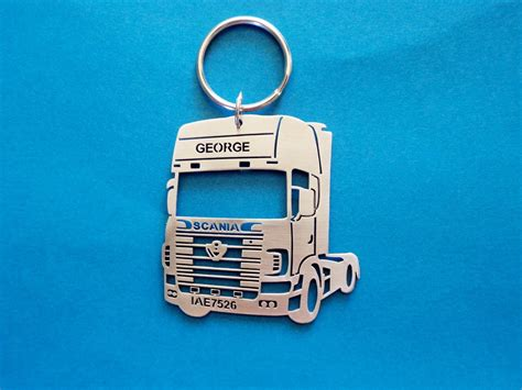scania truck keychain keychain model of your truck truck