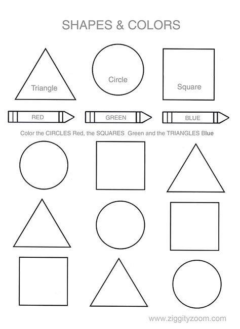 coloring pages with shapes for preschool shapes colors printable worksheet worksheets