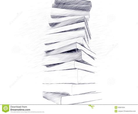 sketch book with pencil pencil sketch of books stock images image 33581954
