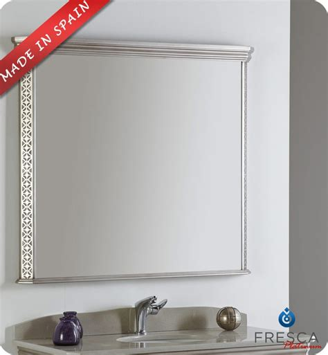 silver bathroom mirror fresca platinum fpmr7526sa london 40 quot bathroom mirror in