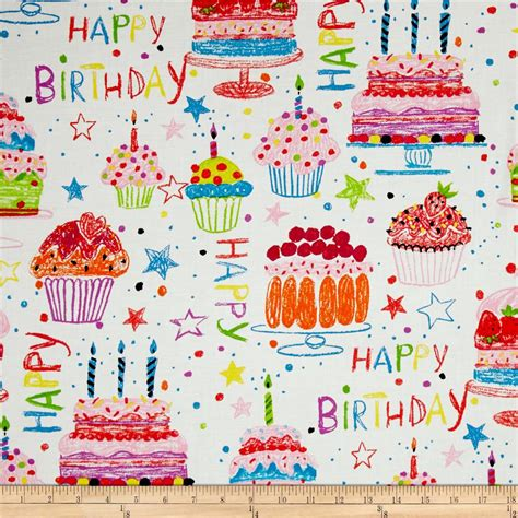 happy birthday material design alexander henry nicole s prints happy birthday natural