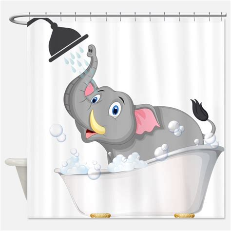 elephant in the bathtub kid s shower curtains shower curtains for kids cafepress