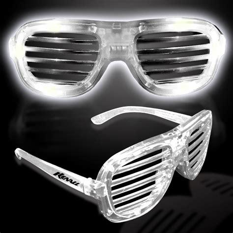 led lights for glasses white led slotted glasses sunglasses eyeglasses masks