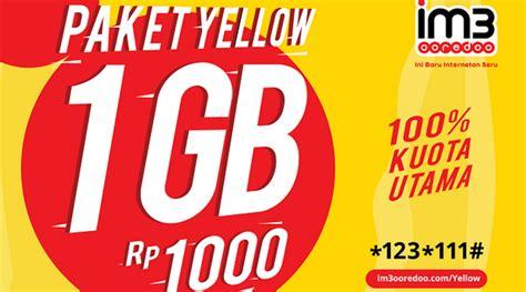 cara errorin paket 1ribu 1 gb indosat cara mudah beli paket yellow kartu indosat 2018 tips