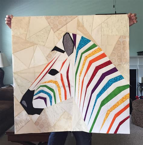 quilt pattern zebra mega zebra in profile a pattern release from the