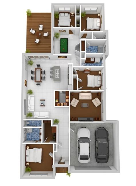 4 Bedroom Apartment Floor Plans | 4 bedroom apartment house plans