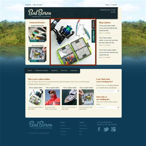Fishing Templates by Fishing Website Template Free Website Templates