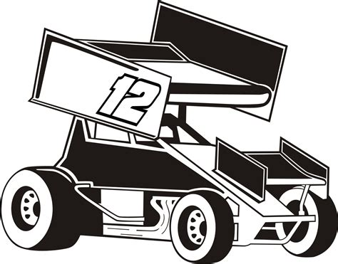 sprint car coloring page free coloring pages of sprintcar