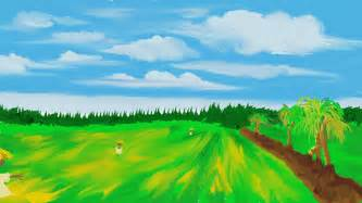 how to draw paddy field