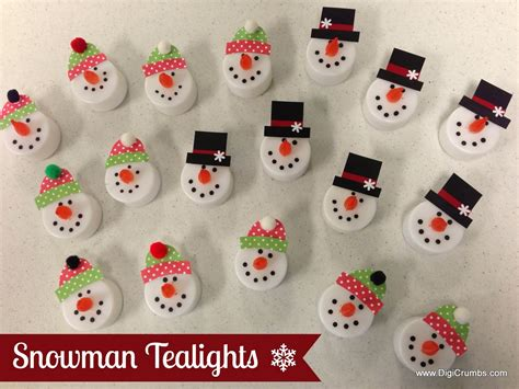 christmas decorations to make at school digicrumbs snowman tealights makes a ornament magnet pin or package topper