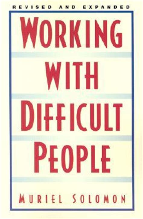 difficult books working with difficult by muriel solomon reviews